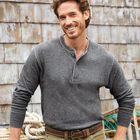 Men's Two-Layer River Driver's Shirt and reg;, Traditional Fit Henley | Free Shipping at L.L.Bean