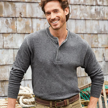 Men's Two-Layer River Driver's Shirt and reg;, Traditional Fit Henley   Free Shipping at L.L.Bean