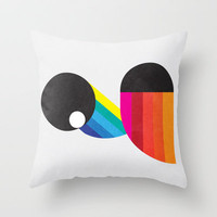 2 Birds Throw Pillow by Three of the Possessed