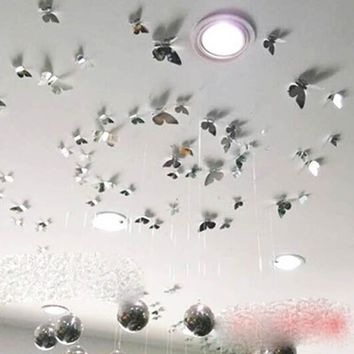 12 Pcs Colorful 3D Butterfly Wall Stickers Docors Art DIY Decorations Paper