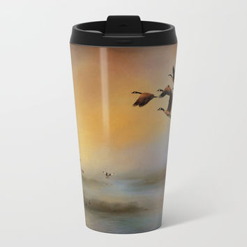 Homeward Bound Metal Travel Mug by Theresa Campbell D'August Art