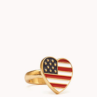 Star-Spangled Heart Ring