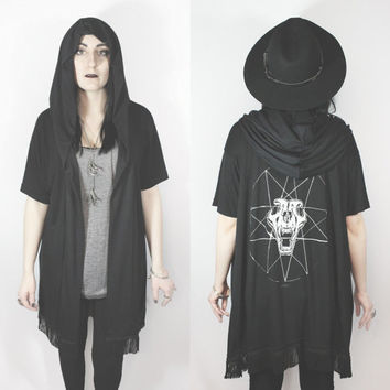 Witching Hour  oversized fringe cloak