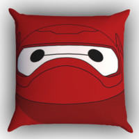 Cute Face Baymax Z1670 Zippered Pillows  Covers 16x16, 18x18, 20x20 Inches
