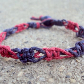 Macrame Hemp Bracelet Switchback For Men For Women