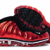 red black air foamposite max sneakers for cheap