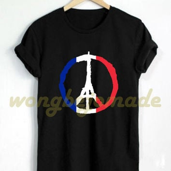 HOT Pray for Paris Shirt Peace Paris French Flag Tshirt Black and Navy Color T-Shirt