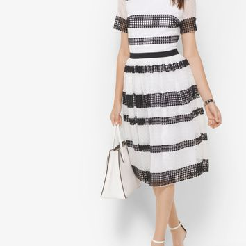Crochet Stripe Dress | Michael Kors