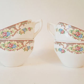 Vintage Floral Kitchen Dining Tea Coffee Cups Plates Floral Cups Plates Collection Cottage Chic Floral China Pastel Floral Cups Mildred