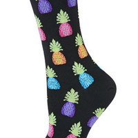 Hot Sox Pineapples Socks - Black