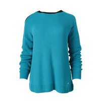 Lauren Active Womens Cotton Woven Pullover Sweater