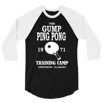 forrest gump   ping pong camp   cult film 3/4 Sleeve Shirt