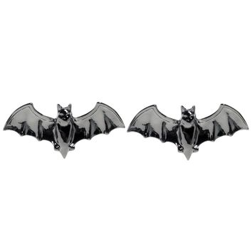 """Bat"" Post Earrings by Sourpuss Clothing (Silver)"