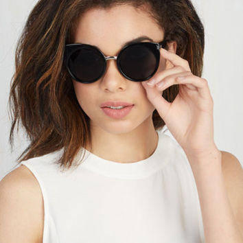 In a Sass of Your Own Sunglasses in Black