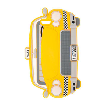 3D Silicone Light Up Yellow Taxi Cab Cover for iPhone 6 and 6s