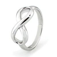 Sterling Silver Infinity Ring - Available Size: 4, 4.5, 5, 5.5, 6, 6.5, 7, 7.5, 8, 8.5, 9, 9.5, 10: Jewelry: Amazon.com