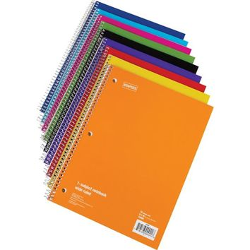Staples® 1 Subject Notebook, 8