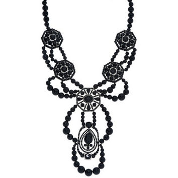 Susan Graver Beaded Statement Necklace - J327721 — QVC.com