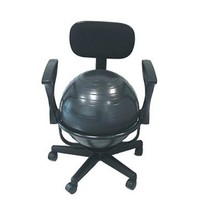 "CanDo 30-1791 Ball Chair, 22"" with Back/Arms, Metal, Mobile"
