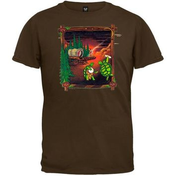 DCCKU3R Grateful Dead - Covered Wagon Chocolate Youth T-Shirt - Youth Large