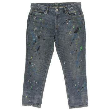 Lauren Ralph Lauren Womens Splatter 5-Pocket Girlfriend Jeans