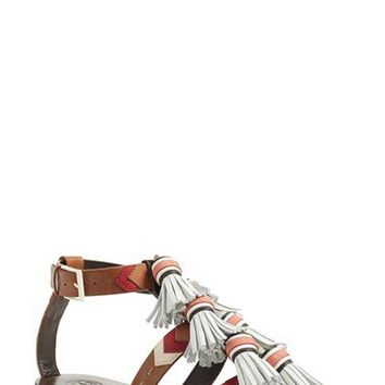 d637313e10c226 Tory Burch  Weaver  Tassel Sandal (Women) from Nordstrom
