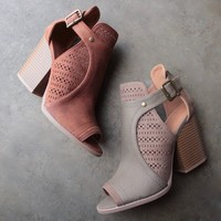 sweet talk perforated peep toe bootie - more colors