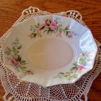Royal Albert Trinket Dish, pattern 'Moss Rose'