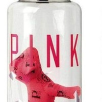 Victoria's Secret Pink Limited Edition Water Bottle Confetti & Mini Dog In PINK, NEW W/Tags!