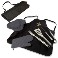 NFL New Orleans Saints BBQ Apron Tote Pro Black