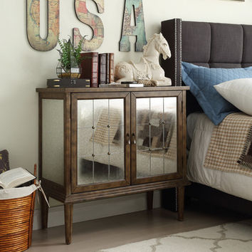 House of Hampton Roquefort Mirrored Cabinet & Reviews | Wayfair