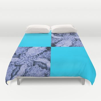 Season of the Square - Symmetry in Light Blue Duvet Cover by michael jon