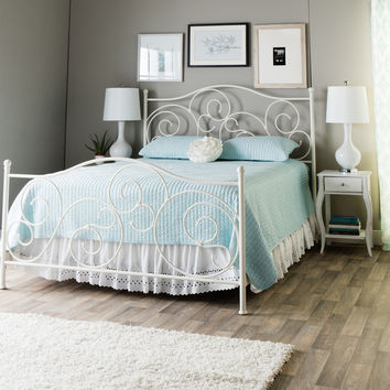 Emma Plain White Queen-size Bed | Overstock.com Shopping - The Best Deals on Beds