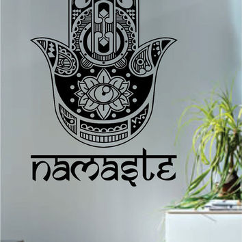 Namaste Hamsa Hand Version 2 Decal Sticker Wall Vinyl