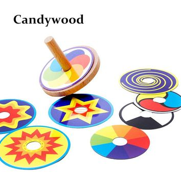 Wooden Toy Funny Colorful Beyblade Toy Spinning Top with 8 Drawing Cards Classic Beyblades Toy for Kids Children