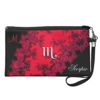 Monogram Zodiac Sign Scorpio Wristlet Bag Purse