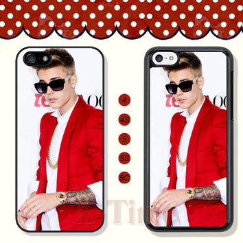 Justin bieber, iPhone 5 case iPhone 5c case iPhone 5s case iPhone 4 case iPhone 4s case, Samsung Galaxy S3 \S4 Case, Phone case --X50975