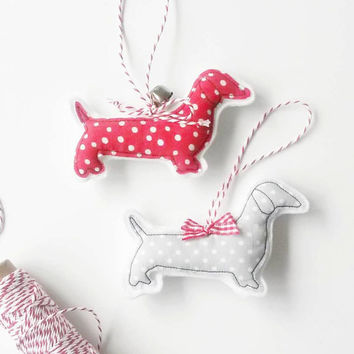 Sausage Dog Decorations, Christmas Dachshund Gift, Doxie Dachshund, Christmas Dog Lover Gift, Sausage Dog Art - Christmas Decorations