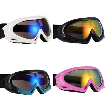 Anti-Fog Single Layer Ski Goggles For Men Women Youth Snowmobile Skiing Skating Mask Winter Snow Sports Snowboard Goggles