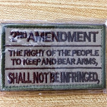 "2nd Amendment 3""x2"" Velcro Patch"
