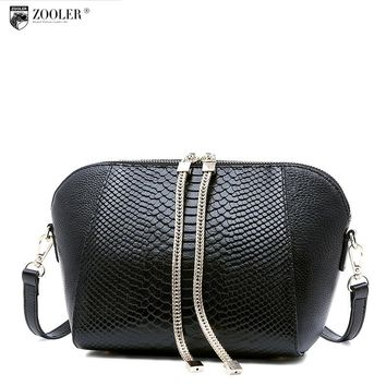 losing sales ZOOLER genuine leather bag brands women bag 2016 new serpentine pattern women Shoulder Bag cowhide cross body #1211