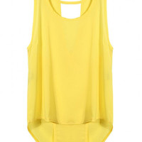 Yellow Cut-Out Vest