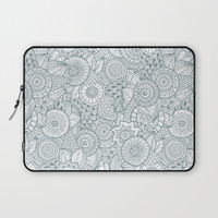 Abstract Floral Pattern Laptop Sleeve by Smyrna
