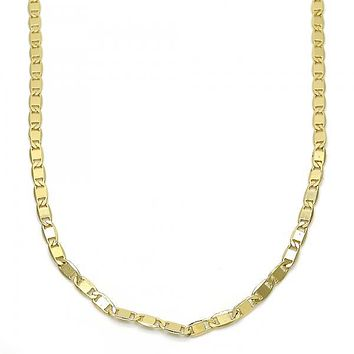 Gold Layered 04.213.0080.18 Basic Necklace, Polished Finish, Golden Tone