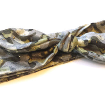 Beaded Faded Camo Top Knot Headband Adult or Childs Camo Fashion Headband Camouflage Tie Turban Headwrap Camo Accessories Knotted Headband