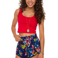 My Sharona Tropical Shorts - Blue