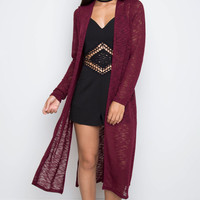 Waverly Knit Cardigan - Burgundy