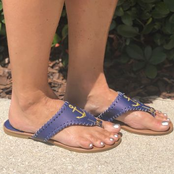 Simply Southern Anchor Flops- Navy