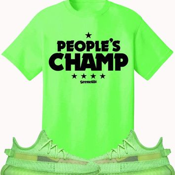 Adidas Yeezy 350 Boost Glow Volt Sneaker Tees Shirt to Match - PEOPLES CHAMP