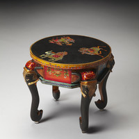 Artifacts Kerala Hand Painted Elephant Accent Table